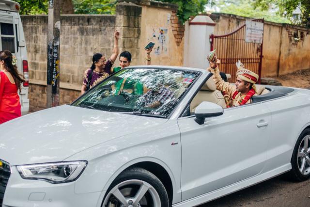 wedding photography car